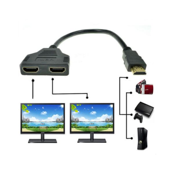 Bảng giá 1080P HDMI Port Male to 2 Female 1 In 2 Out Splitter Cable Adapter Converter Phong Vũ