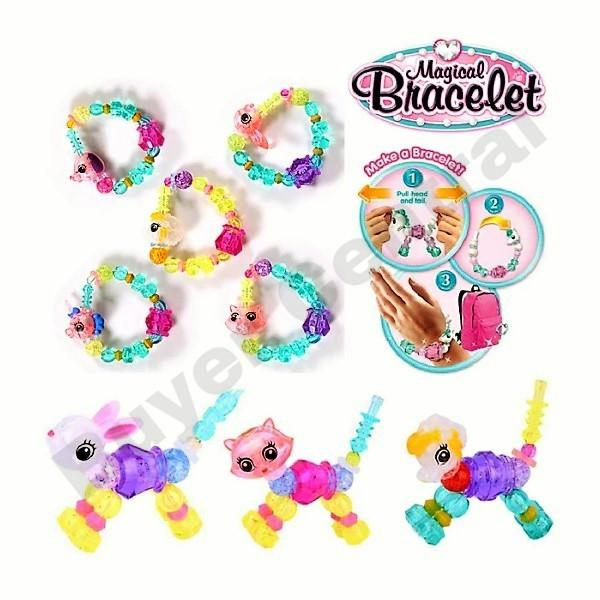 Buyer Central 1pc Diy Magical Pet Bracelet For Kids Animal Toys Make A Bracelet Or Twist Into A Pet Twisty Petz Animal Magic Tricks Pop Beads Fashion Accessories For Kids Jewelry For Girls Collectables Toys For Kids By Buyer Central.