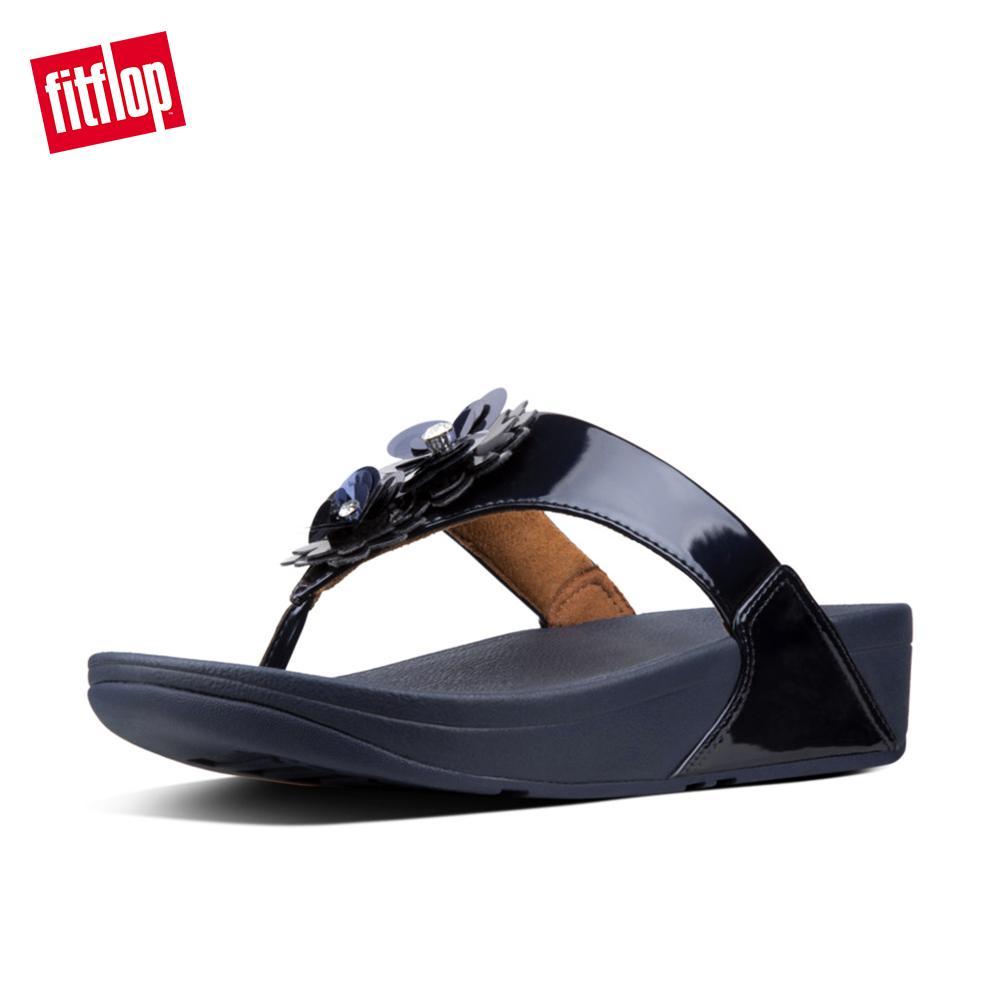 aa13bc5d8496 Fitflop Women s Sandals N93 Lulu Flower Toe Post Super Cushioned Comfortable  Stylish Sandals