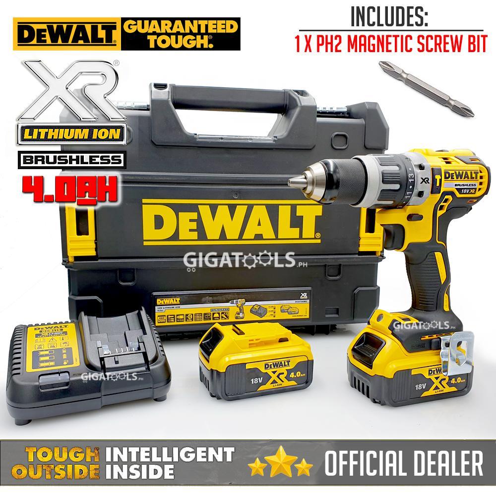 DeWalt DCD796M2 18V Brushless Cordless Hammer Drill Driver with 1pc PH2  Magnetic Screw Bit ( CRDLSDRL )