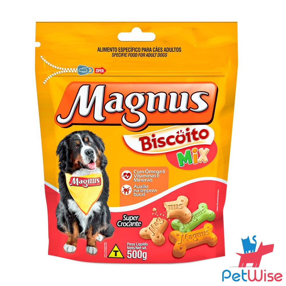 Magnus Biscuit Treats For All Dog Breeds-Mix Flavour 500g By Petwise.