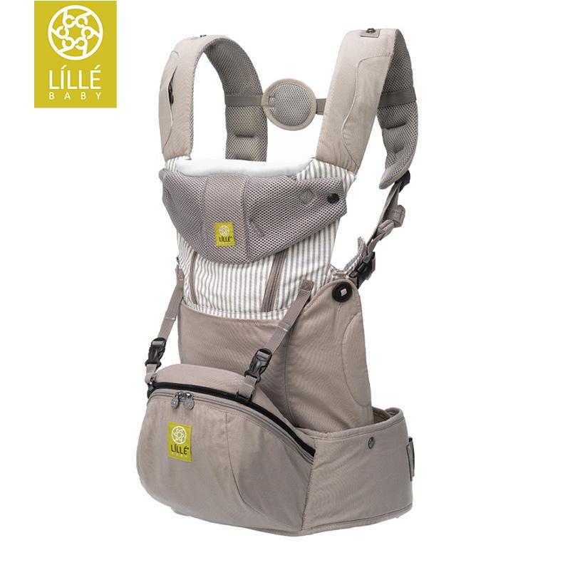 LILLEbaby Seatme Hip Seat Baby Carrier Grey Cotton