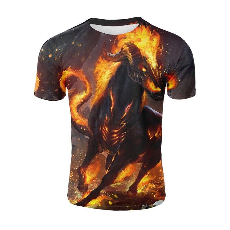 5c45d18fd8e0 2019 Newest War Horse 3D Print Animal Cool Funny T-Shirt Men Short Sleeve  Summer