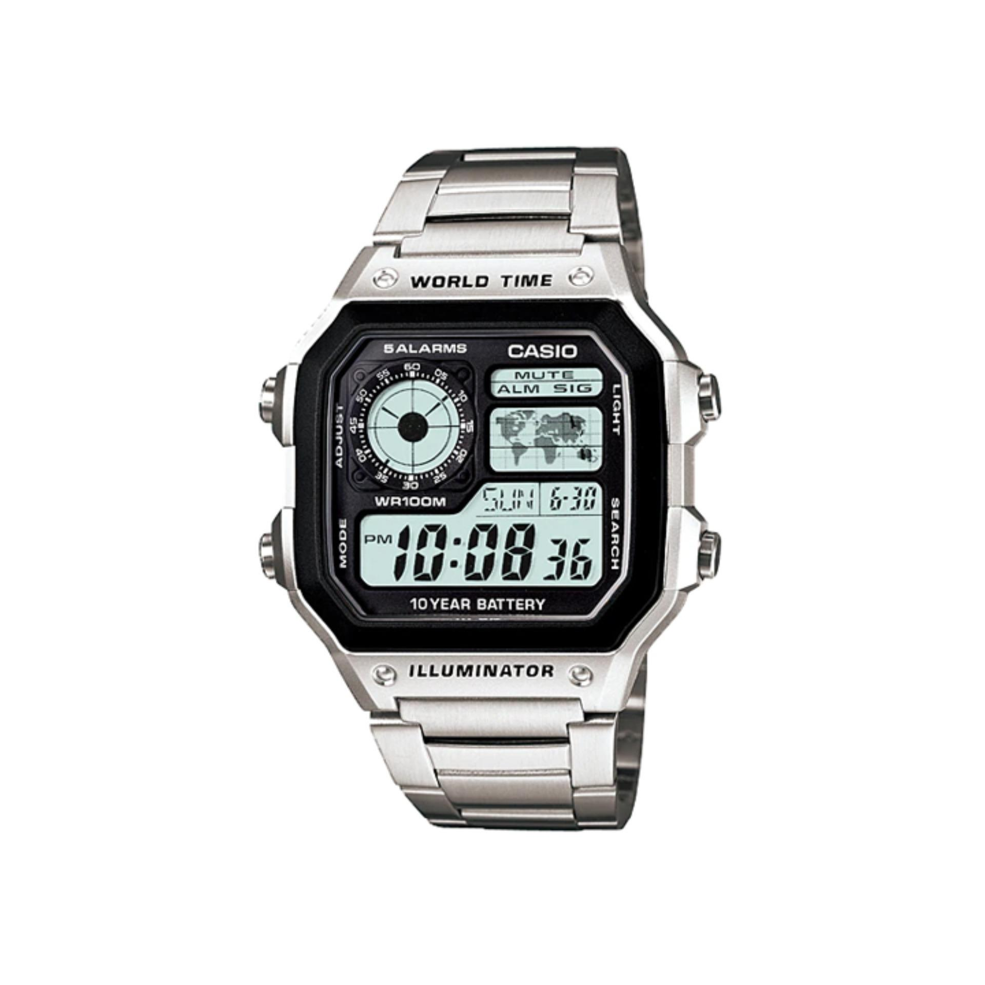 Casio Youth Men S Digital Stainless Steel Strap Watch Ae 1200whd 1avdf With 1 Year Warranty T1y