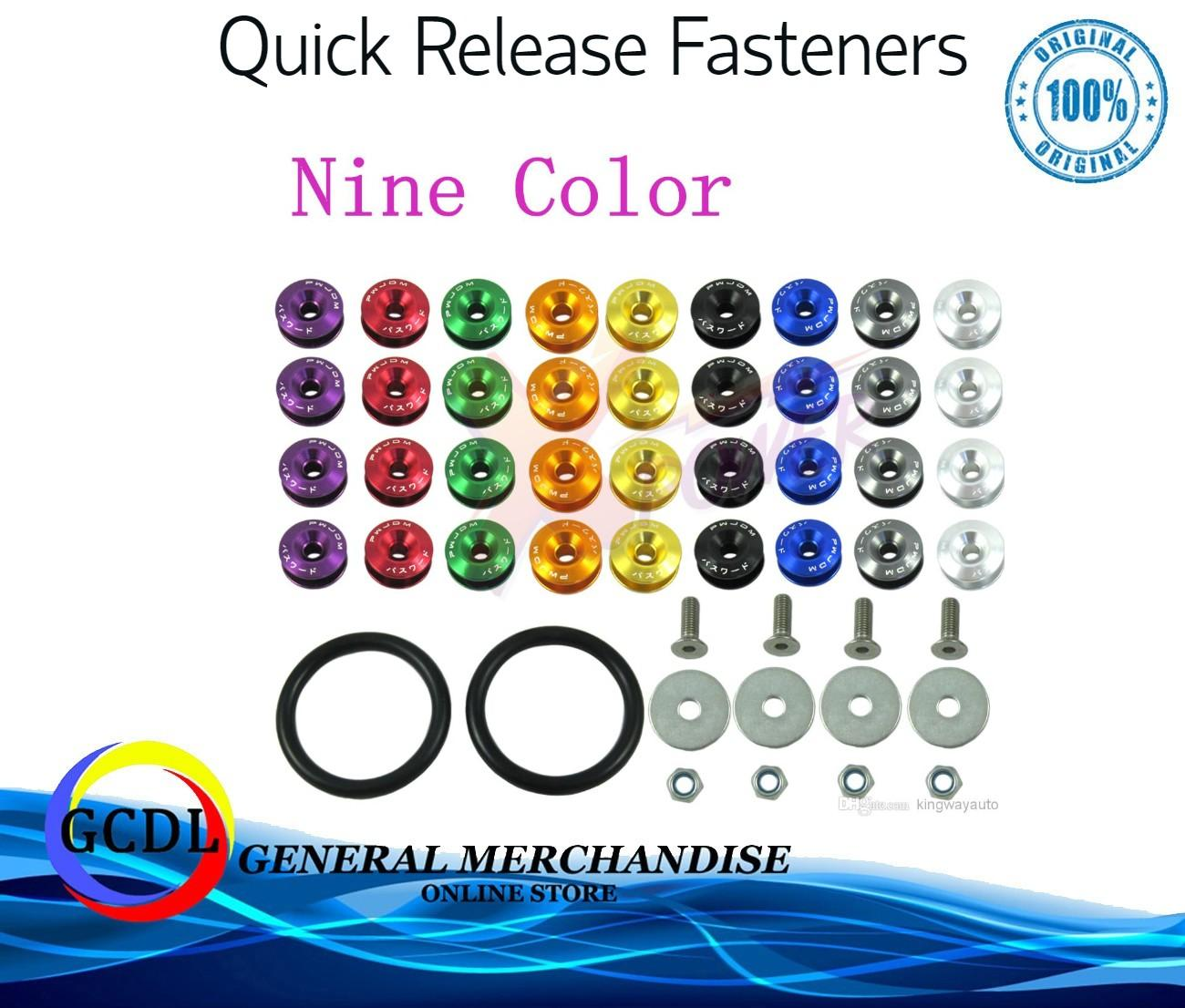 Jdm Password Bumper Fasteners(black) By Gcdl General Merchandise.