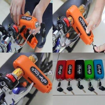 Caps-Lock Motorcycle Handlebar Grip Brake Lever Lock Anti-Theft Security By Hot-Wave.