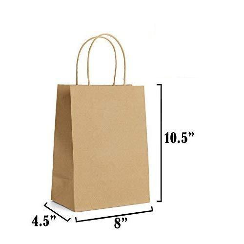 5aa97deb1087 30 PCS (Small Size) Regular Brown Paper Gift Bags with Handle ( 8 x