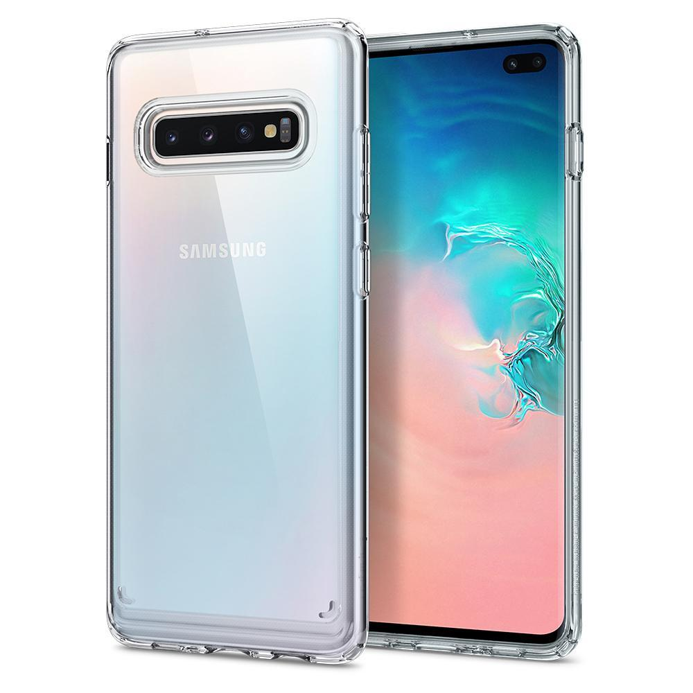 Spigen Galaxy S10 Plus Case Ultra Hybrid Crystal Clear
