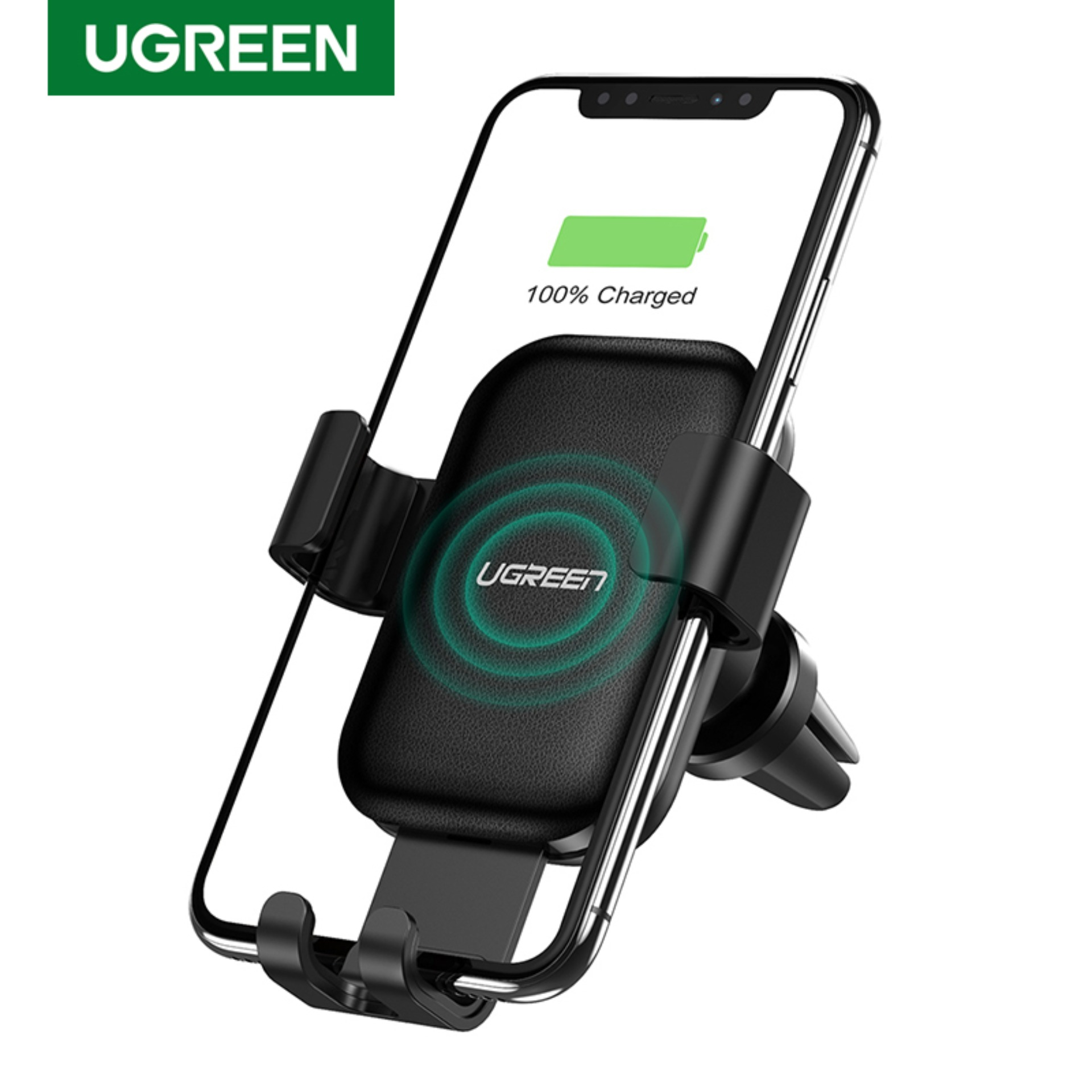 Car Phone Holder and Charger USAMS Qi Wireless Charger Car Phone Air Vent Holder Strong Magnet Phone Holder for iPhone X//8//8 Plus Samsung Galaxy S9//S9 Plus//S8//S8 Plus and All Qi-Enabled Phones