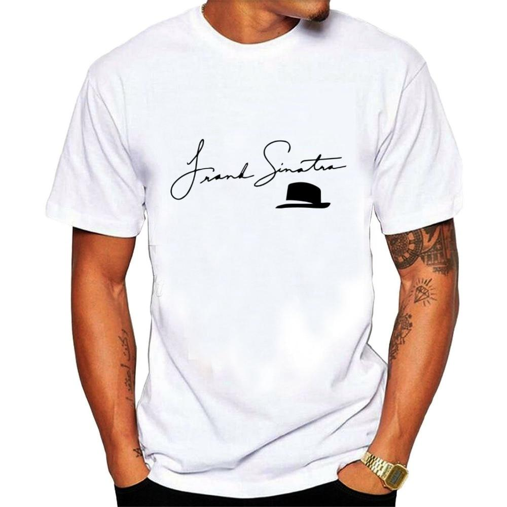 3b25a6d95b17 Sports t-shirt 2019 New Arrivals Men's popular singer Frank Sinatra T shirt  printing t