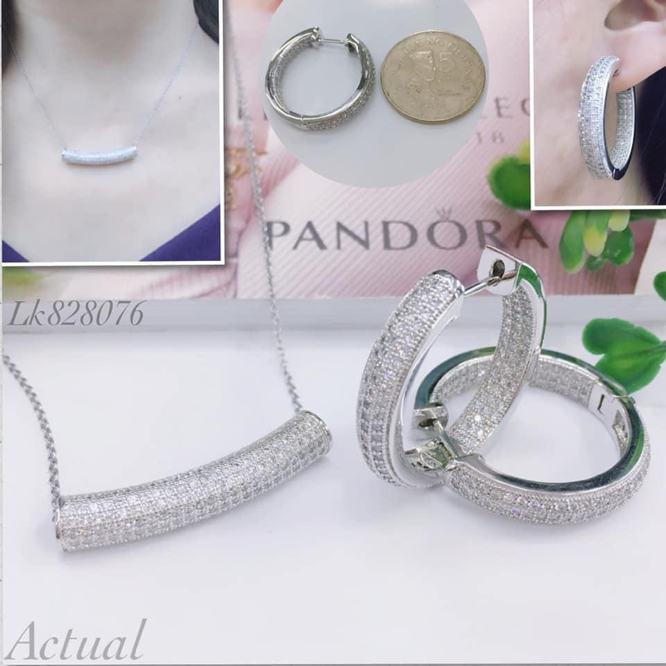 93c2d27cd9924 Pandora 2in1 necklace earring Jwewllery set