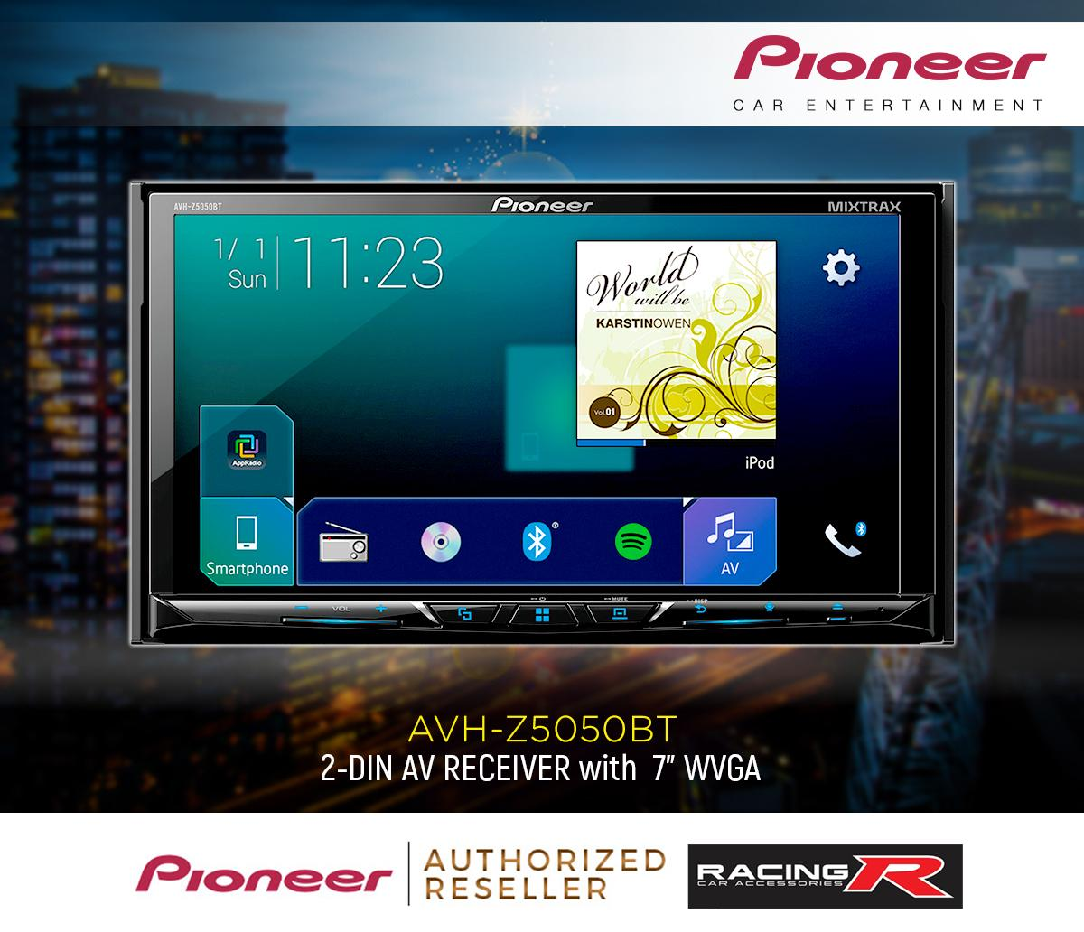 Pioneer AVH-Z5050BT Car Stereo DVD RDS AV Receiver ( Car Accessories )
