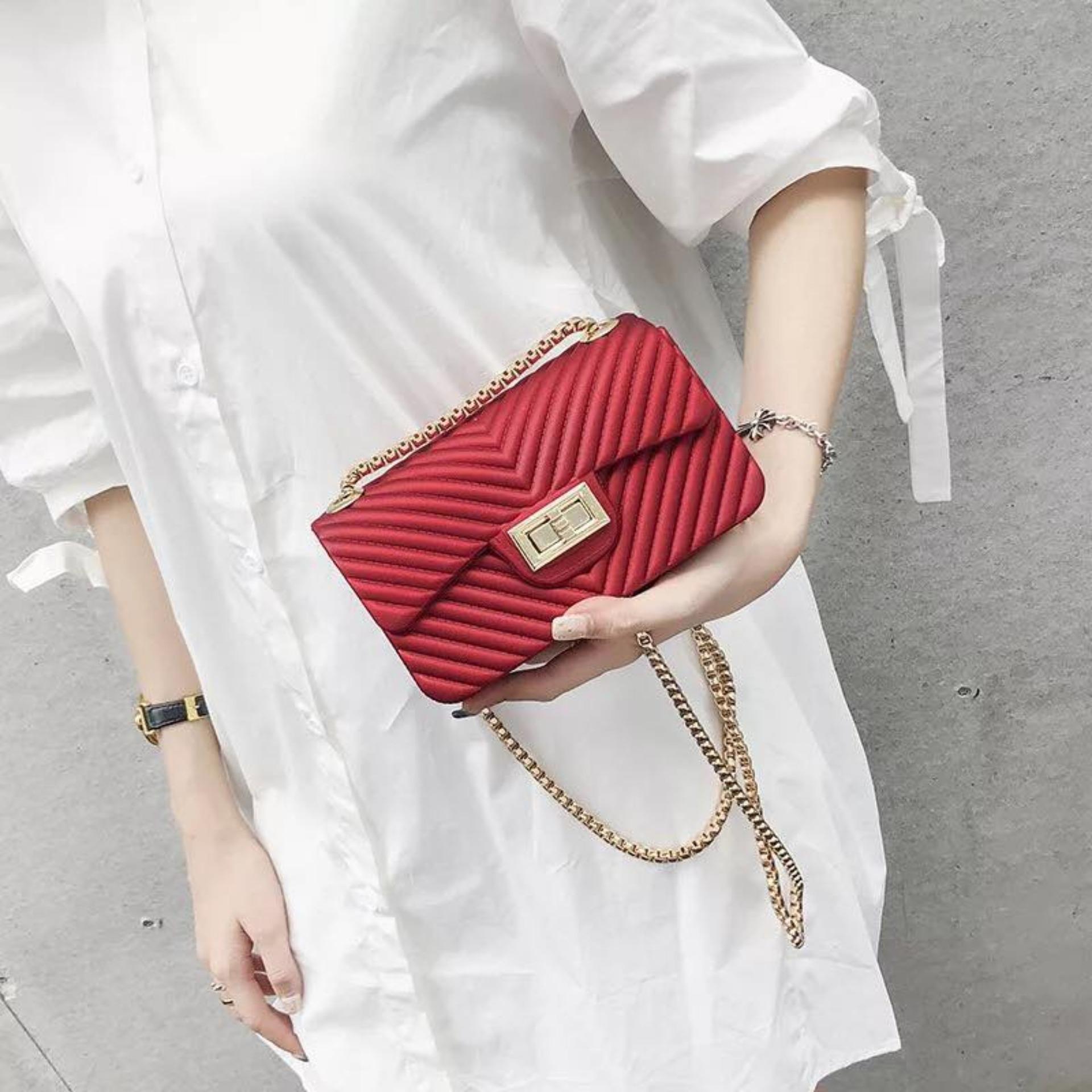 b0153f9997a3 Ella  478 Jelly Bag Jelly Sling Bag High Class Elegant Design Smooth Rubber  Waterproof Case