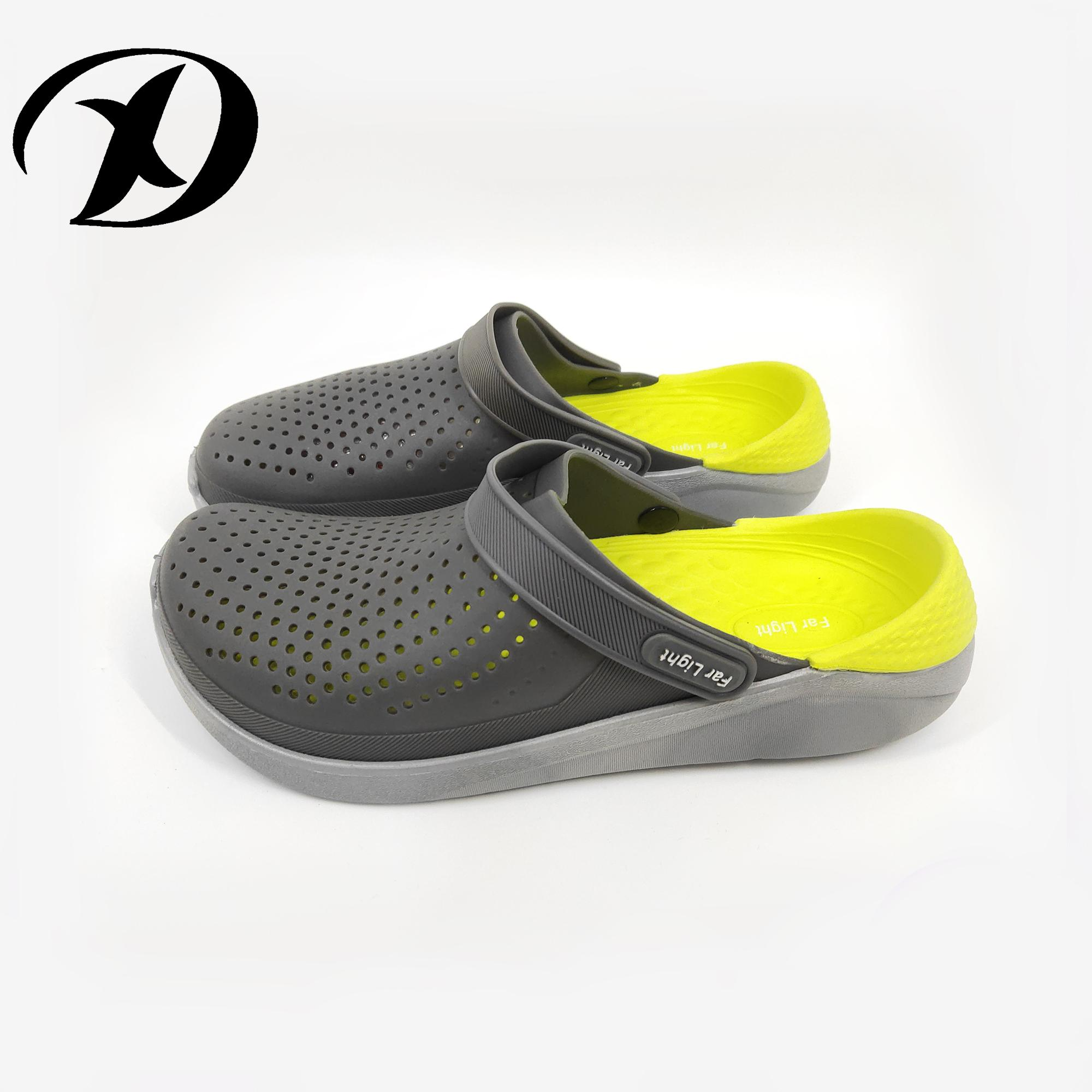 Dx Summer Sandals Men Casual Shoes Mules Clogs Croc Breathable Beach  Slippers Male Water Hollow Jelly c15e4ba4b3