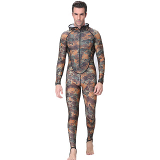 Dive&Sail Spearfishing Couple Suit Camo Skin Dive Wetsuit One Piece With Hood Jump Uv Protection Men Diving Suit thumbnail
