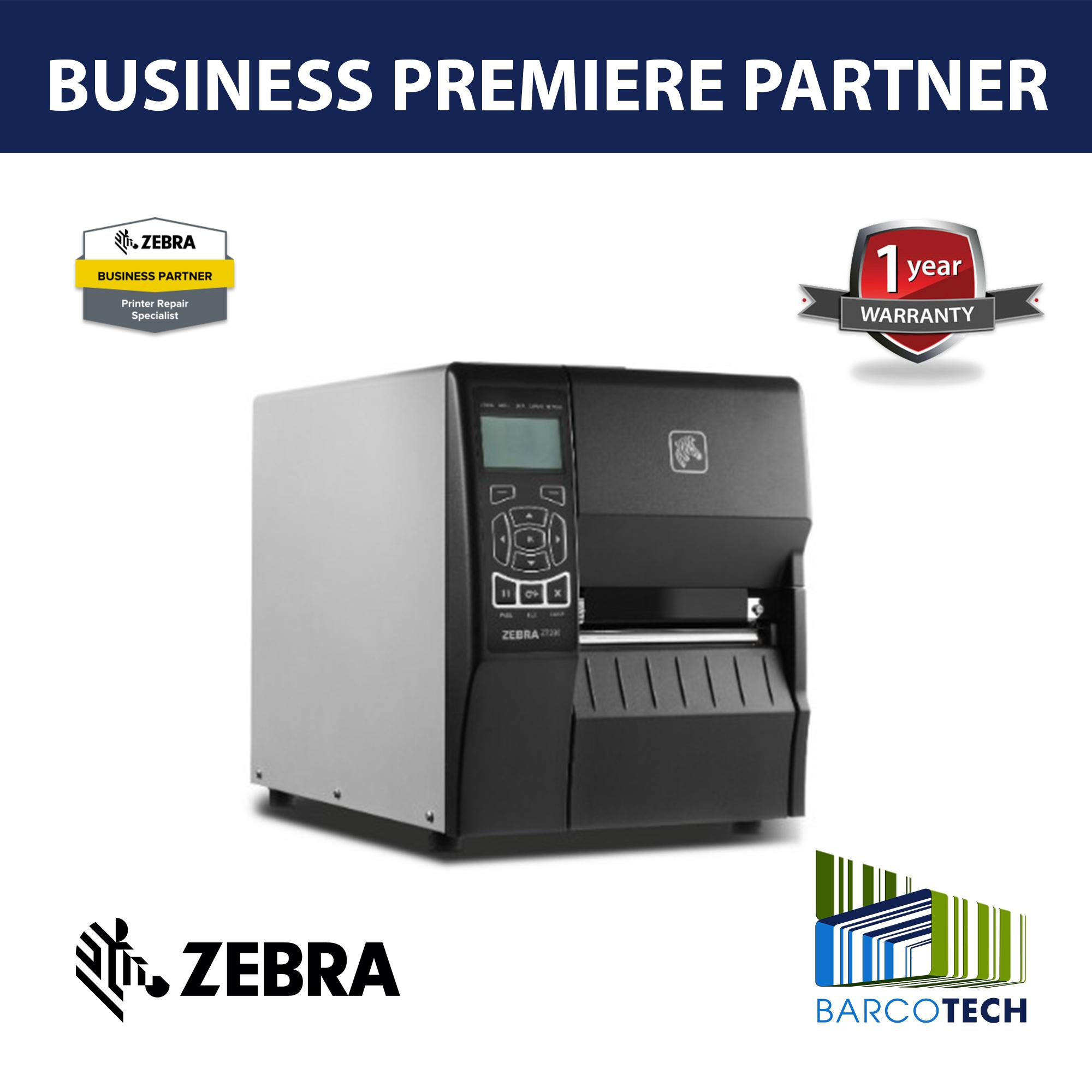 Zebra ZT230 Direct / Thermal Transfer Barcode Industrial Printer 300dpi