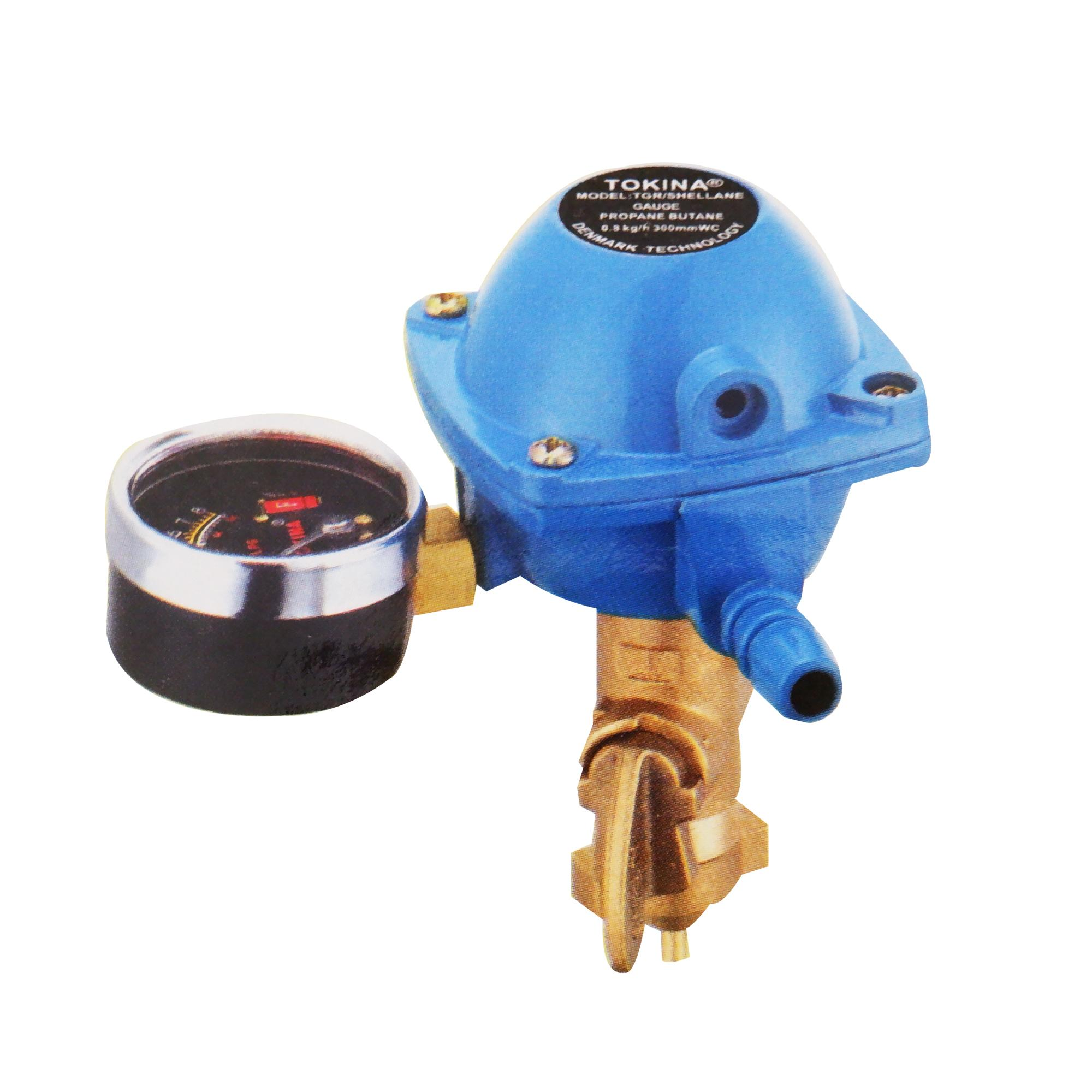 Tokina® Gas Regulator for Shellane LPG tanks with Gauge