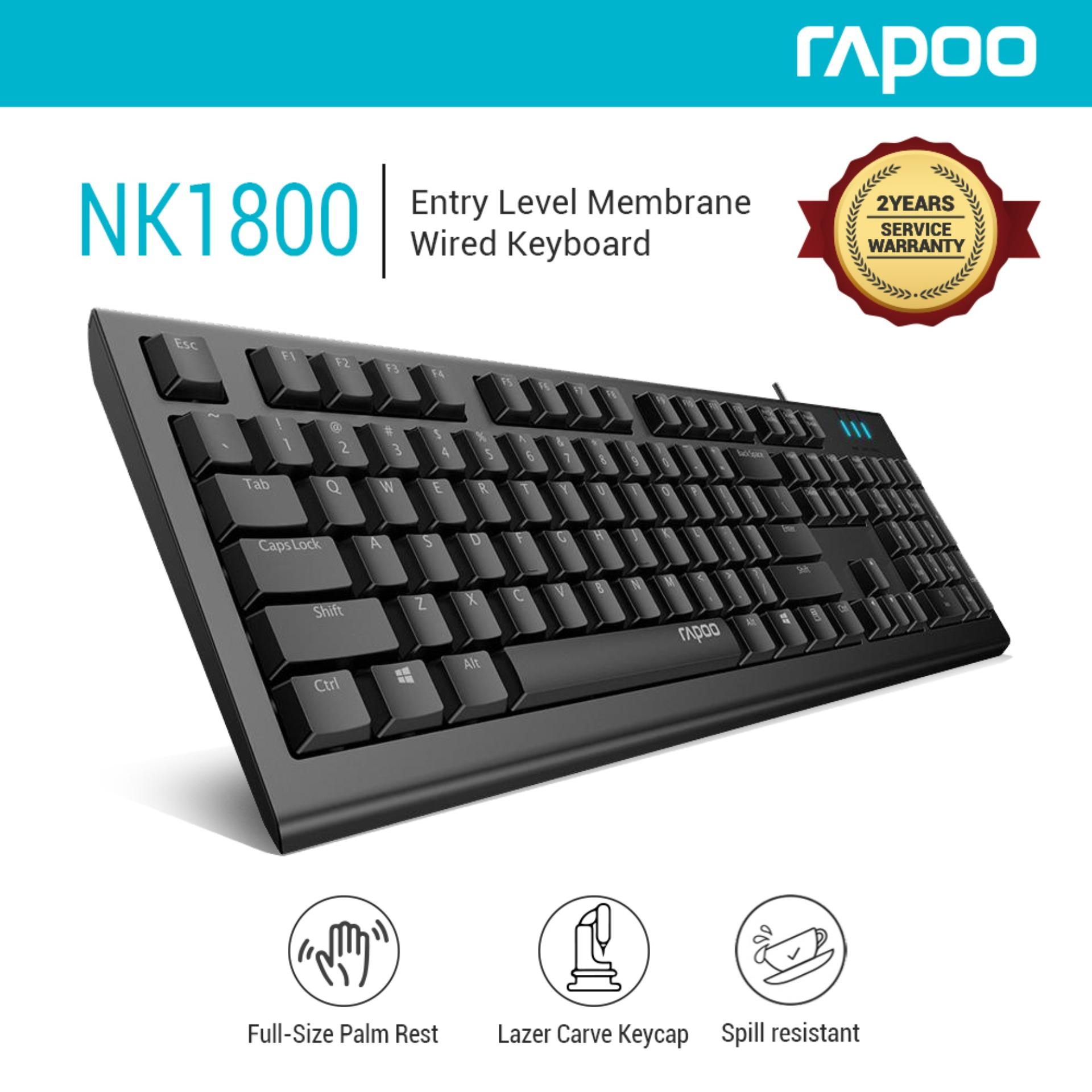 2557aff832b 74914 items found in Keyboards. Rapoo NK1800 Entry Level Membrane Wired  Keyboard