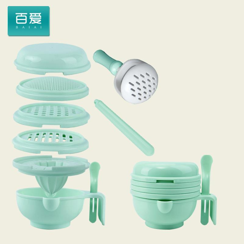 Baby Food Supplement Tool Food Supplement Grinder Manual Grinding Bowls Babycook Infant Pounded Puree Vegetables Food Mixer image on snachetto.com