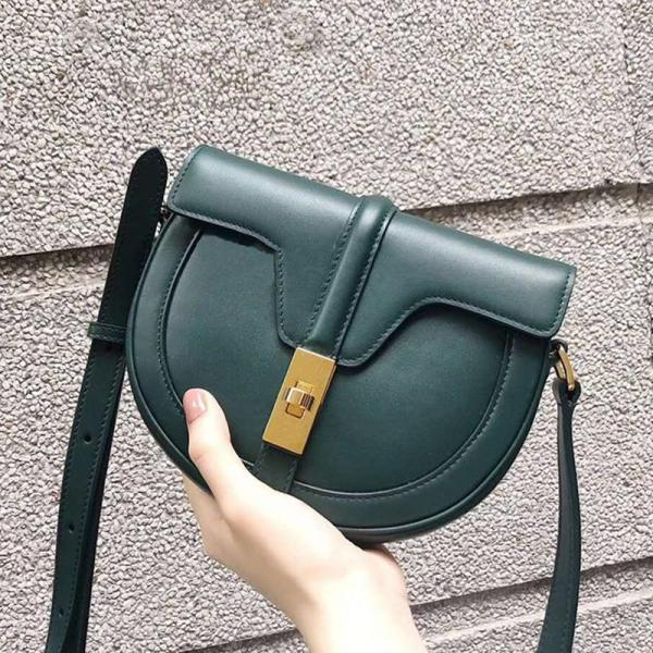 2020 New Style Chalfdesign Saddle Bag Leather Packet SHININGSTAR Celebrity Style Cecilia Package Small CK Crossbody Bag Female