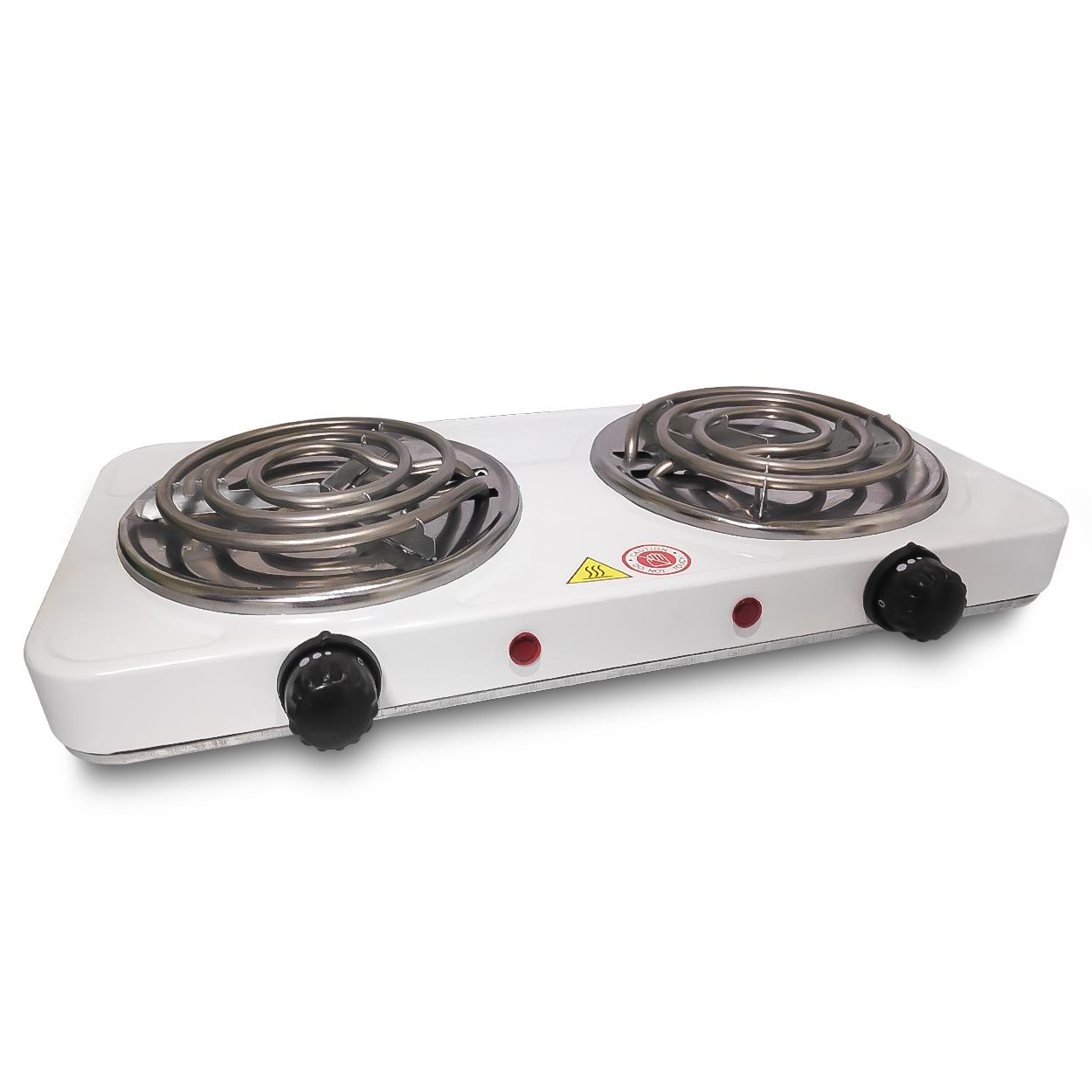 4a73448903c StarHome Hot Plate Double Burner Electric Cooking Stove (White) 220v 2000  watts