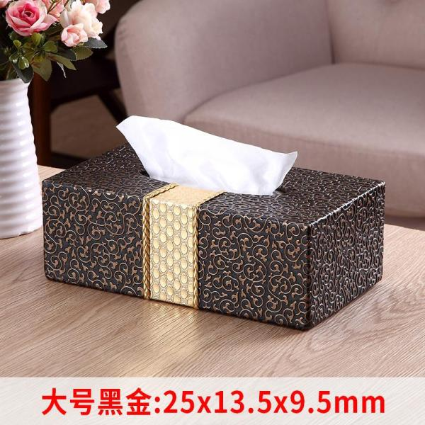 Living Room Simple Household Tissue Box Customizable Creative Teapoy Table European Style Paper Extraction Box Restaurant with Northern Europe INS Light Luxury Wind