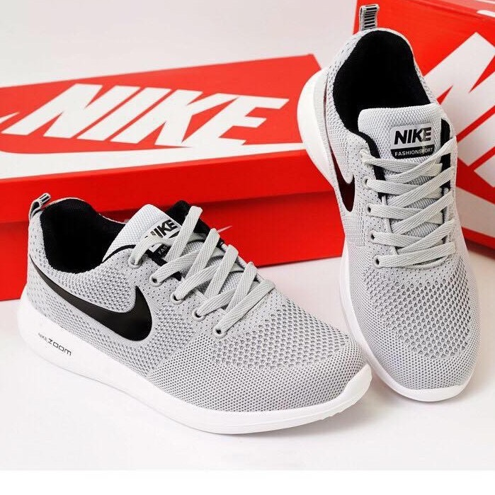 NIKE ZOOM Running Shoes Gray Black For