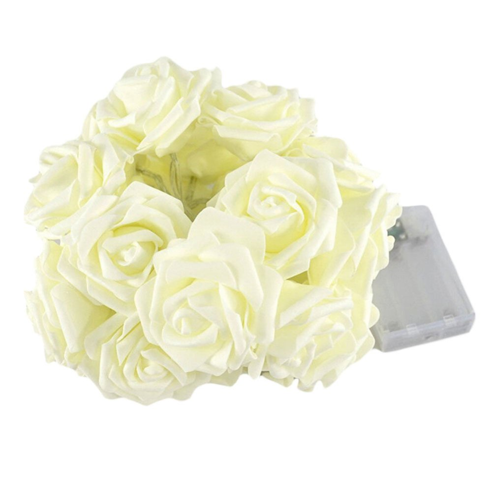 2.2m 20LED Rose Flower Fairy String Lights Wedding Garden Party Christmas Decoration- Intl - thumbnail