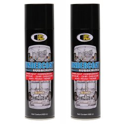 2 cans Bosny Undercoat Spray Paint Black