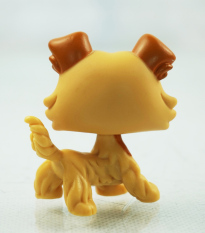 2'' Rare Collie Cream Yellow Puppy Dog Littlest Pet Shop LPS 2452 Kids Toys