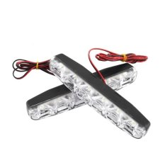 2 x 6 LED Waterproof Xenon White Super Bright DRL Daytime Running Driving Lights Fog Lamps