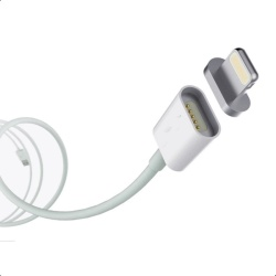 1 Meter Magnetic Cable For Iphone And Ipad (White)  with Free VIVO In-Ear Wired Headset Earphone In White