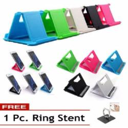 1 Pc. Universal Folding Table cellphone support Plastic holder desktop stand for your Smartphone & Tablet FREE 1 Ring stent 40g
