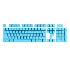 104 Keys Double Shot PBT Backlit Keycaps For Mechanical Keyboard(Blue) - intl