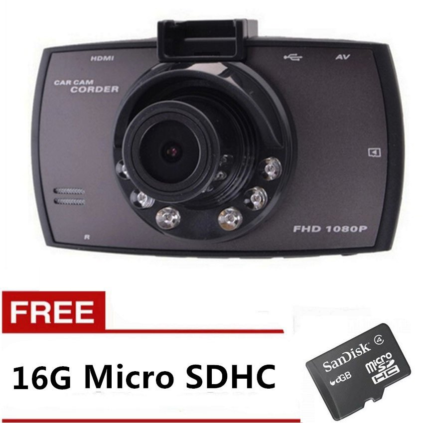 "1080P 2.7"" G30 170-Degree Wide Angle G-sensor Car DVR Dash Camera"