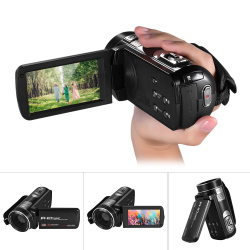 1080P Full HD Digital Video Camera Camcorder 16? Digital Zoom with Digital Rotation LCD Touch Screen Max. 24 Mega Pixels Support Face Detection Outdoorfree - intl