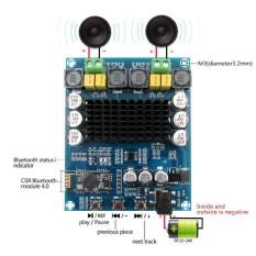 120Wx2 Bluetooth Digital Amplifier Board Module Stereo Dual Channel  3 3-4 2V - intl