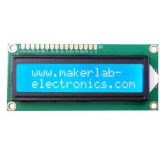 16x2 Lcd Display White On Blue 1602 By Makerlab Electronics.