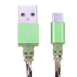 1m/3.28ft Camouflage Micro USB Android Data Sync Charging Cable Cord(Pink) - intl