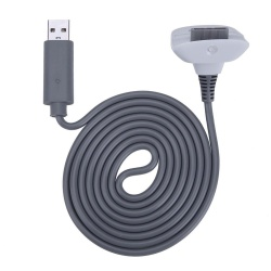 1pc Charging Cable for Xbox 360 Wireless Game Controller Joystick(Grey) - intl