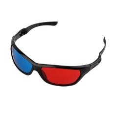 2017 New Universal 3D Plastic Glasses Black Frame Red Blue 3D Visoin Glass  For Dimensional Anaglyph 49236af851
