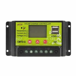 20A LCD Solar Charge Controller Panel Regulator 12V 24V Auto W/ Dual USB - intl