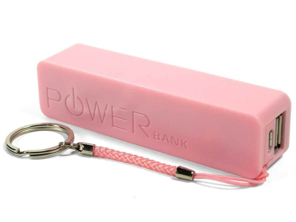 2600 mAh Mini Portable Power Bank (Pink)