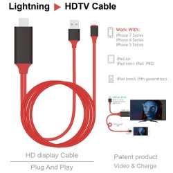 2M High Quality 8 Pin to HDMI Hdtv AV Adapter Cable For Lightning for Phone - intl