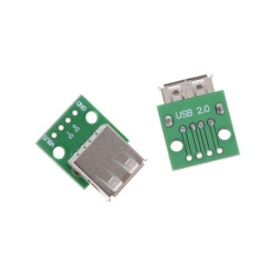 Sky Wing 2pcs Hot Female Type A USB For 2.54MM PCB Board DIP Adapter - intl