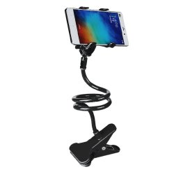 360 Degree Flexible Long Arms Mobile Phone Holder Lazy pod with Clip (Black)