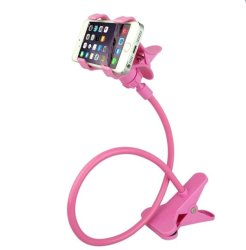 360 Rotating Flexible LazyPod Universal Mobile Phone Holder (Pink)