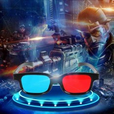 3D Glasses Red Blue Frame For Dimensional Anaglyph Movie DVD Game - intl 0298644639