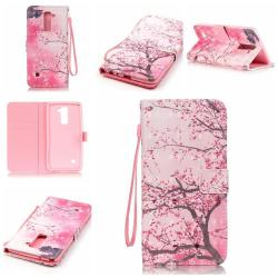 3D Pattern Leather Case for LG G Stylo 2 / LG Stylus 2 LS775 Flip Wallet Card Pouch Stand Cover Cherry blossoms