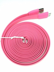 3M Usb Charging Cable For Samsung And Micro (Pink) plus Free VIVO In-Ear Wired Headset Earphone In White